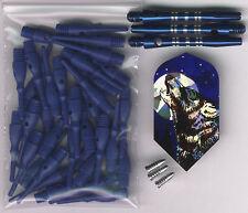 """""""Lone Wolf"""" Soft Tip Dart Upgrade Kit: Blue Tips, Blue Shafts & More"""