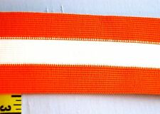 "Non-Roll Elastic Waist Elastic Stripe Elastic 2-1/2"" Orange White 5 yds #2"