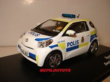 J-COLLECTION JC247 TOYOTA IQ SWEDEN POLICE CAR 2011 au 1/43°