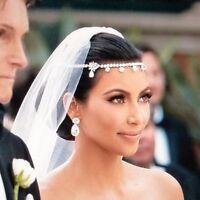 Rhinestone Bridal Kim Wedding Headpiece Head Hair Forehead Chain Headband