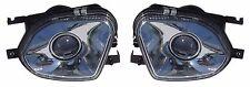 W211 2002-2007 Fog Light Lamps Mercedes Benz Chrome Housing & Clear Lens w/Bulb