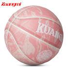 Kuangmi pink basketball Size 7 29.5 Size 6 28.5 ball Indoor/Outdoor