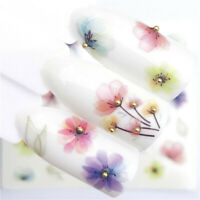Nail Art Water Transfer Sticker Decals Flower Necklace Polish Decor Manicure