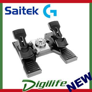 Logitech G Pro Flight Rudder Pedals for PC Simulator Gaming Controller Saitek