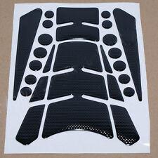 Motorcycle Sport Bike Oil Gas Tank Protector Pad Decal Sticker Black Universal