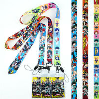 My Hero Academia Lanyard Neck Strap Cell Phone Rope Anime KeyChain Cos Gift