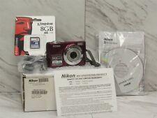 Nikon 26240B Coolpix L24 14.0MP Digital Camera in Red W/8GB SD Card