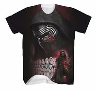 Star Wars The Force Awakens Kylo Ren Sublimated Licensed Adult T Shirt