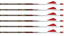 "Easton Bloodline N-Fused 480 Arrows Factory Fletched w/ 2"" Blazer Vanes 6 Pack"