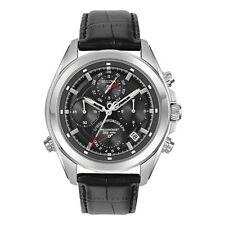 New Bulova 96B259 Precisionist 262 khz Chronograph Leather Strap Men's Watch