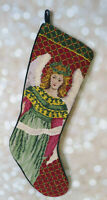 "19"" Needlepoint Christmas Stocking Victorian Angel"