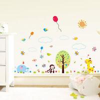 Wandtattoo Wandsticker Kinderzimmer Wandaufkleber Afe Girafe Tiere Süß Bunt  100