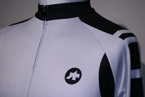 Assos - Full Zipper Cycling Jersey Shirt - XL - Light Grey/Black Long Sleeve Top