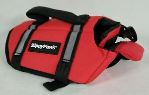 """Zippy Paws Dog Life Jacket, Ripstop Life Vest head support XS Red 11-15"""" Girth"""