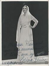 Corina FREIRE Photo dédicacée à Albert FLAMAND Bijoutier des Stars Silva NOGUERA