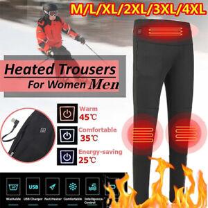 USB Electric Heated Warm Pants Winter Warmer Heating Trousers Elastic UNISEX -N