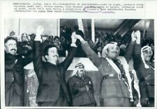 1971 Press Photo Wasfi al Tal Prince Hassan King Hussein Habis al Majali Jordan