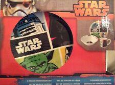 DISNEY Star Wars 3 Pezzi Set da cena colazione in ceramica ~ Tazza Ciotola Piatto, Regalo
