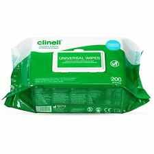 More details for clinell wipes antibacterial wet wipes kills 99.9% of germs 200 wipes per pack