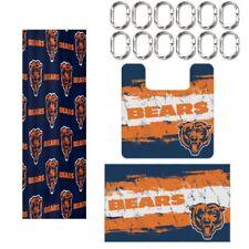 Chicago Bears NFL 15 Piece Rug Shower Curtain Bath Set