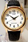 Casio Men's Analog White Gold Fancy Quartz Watch Leather MTP-1093Q-7B2 New