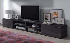 Liona TV Unit Entertainment Center Hub Grey Ash Melamine 2 Door & 2 Shelves
