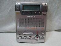 SONY MZ-B100 MINIDISC MD WALKMAN Recorder Portable  Silver Audio Player MDLP