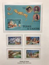 Turks And Caicos 1992 Discovery of America, Stamps & Minisheet MNH