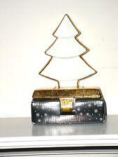 Christmas White Tree w/ Gold Trim Stocking Holder ~ New