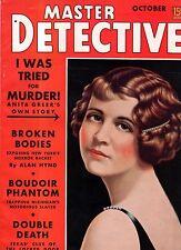 1938 Master Detective October - Crimes in Spavinaw OK; Topeka KS; Van Horn TX