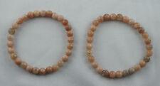 Armband Mondstein grau  rosa 19 - 19,5 cm Hormonstein Edelstein-Armband