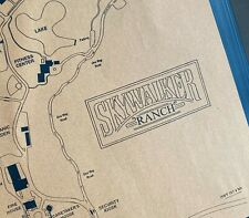 Star Wars E3 Skywalker Ranch MAP &  Parking pass revenge of the sith crew gift