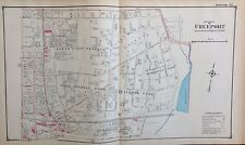 1914 ATLAS MAP FREEPORT OCEANSIDE NASSAU LONG ISLAND NEW YORK
