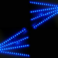 8X Blue 15 LED 30cm Car Auto Grill Flexible Waterproof Strip Light SMD 12V Sales
