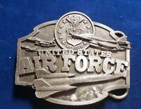 VINTAGE United States AIR FORCE Pewter Belt Buckle Siskiyou Buckle Co. 1987