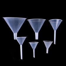 Mini entonnoir de remplissage en plastique transparent de laboratoire w