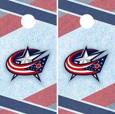 Columbus Blue Jackets Cornhole Wrap NHL Game Board Skin Set Vinyl Decal CO228