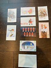More details for 9x gordon fraser christmas cards - unused - vintage - printed in england