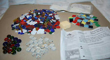 MAKE IT MOSAICS CERAMIC FLOWER POT KIT WITH COLORFUL TILES GLASS & MARBLE DESIGN