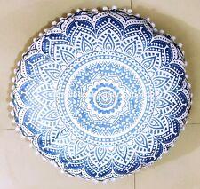 "New Arrival Ombre Mandala Decorative Floor Cushion Throw Pouf 20"" Pillowcase"