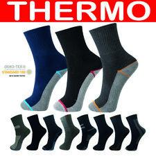 12 Paar Herren Socken Thermo Wintersocken Arbeitssocken Baumwolle Damen 39-46