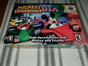 AUTHENTIC BOX ONLY Mickey's Speedway USA Nintendo 64 N64 RARE
