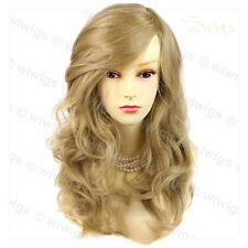 Wiwigs Wonderful Long Golden Blonde Wavy Skin Top Heat Resistant Ladies Wig