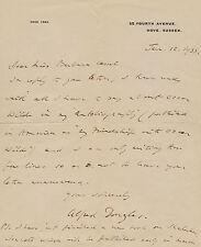 Alfred DOUGLAS Lettre autographe signée au sujet d' Oscar WILDE.
