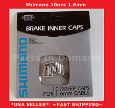 NEW Genuine Shimano Alloy Brake Inner Cable End Caps Tips Crimps 10 Pieces 1.6mm