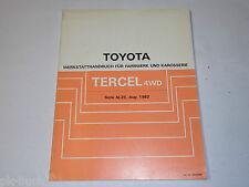 Werkstatthandbuch Toyota Tercel 4WD Fahrwerk + Karosserie, Stand August 1982