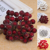 40PCS MINI CHRISTMAS FOAM FROSTED FRUIT-ARTIFICIAL HOLLY BERRY HOME PARTY DECOR