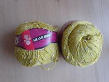 Schewe Wolle Strickgarn MIAMI IRISE 100 gr 2 Knäuel Mako-Baumwolle mehr da curry