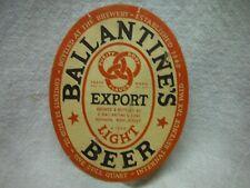 Ballantine Export Light Irtp Quart Beer Label~Ballantine & Sons Brg.,Newark,N.J.