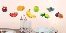 Aufkleber Sticker Wandaufkleber Wandsticker Deko Obst Banane Früchte Küche Möbel